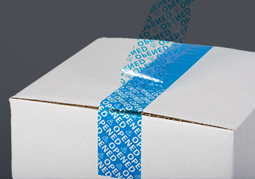 Security Package Tape blue open