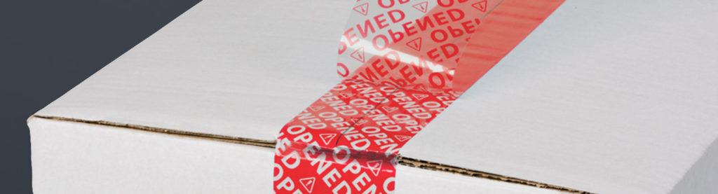 Security Package Tape red open